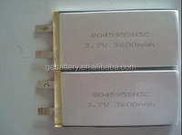 Prismatic Size 3C Discharging 3.7V 3600mAh GEB804595 lithium ion polymer battery rc lipo battery