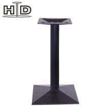 Restaurant dining metal square tube table leg
