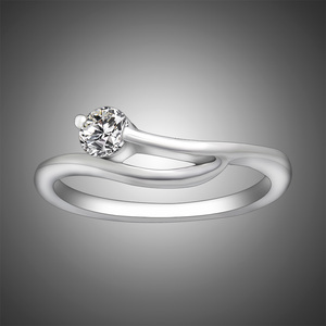 Fine Wholesale 925 Silver Jewelry Couples Rings Stainless Steel Wedding Engagement Ring SA430