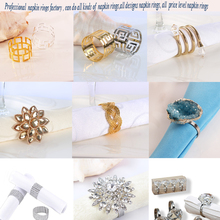hot sell rhinestone and blue horse eye napkin ring for wedding table decorations
