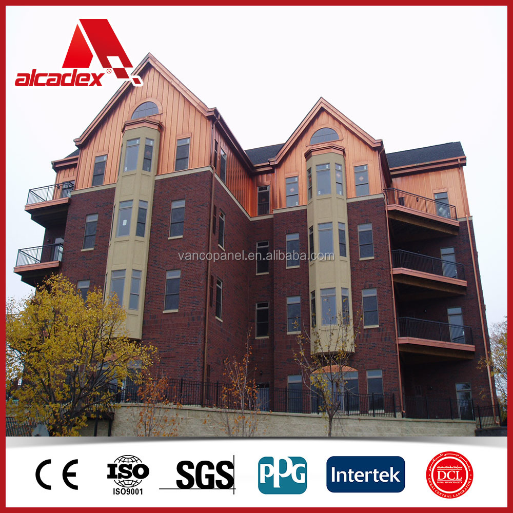 Copper Composite Panel, facade cladding, bronze, composite panels