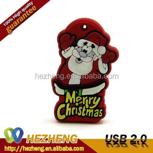 2015 New USB Style 1GB Merry Christmas Flash Disk Memory Cards Customized Free Samples