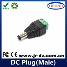 Hot sale JR 12V male power Dc Plug With Screw Terminals