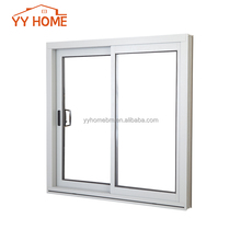 aluminum framed sliding windows double glazed for residential from Shanghai factory