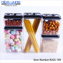 Stackable Kitchen Plastic Food Storage Container Set