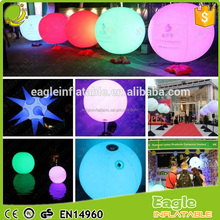 Birthday party decorations gas ballon outdoor inflatable advertising ballon waterproof led ballons with tripod