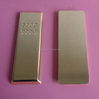 custom make your logo metal gold bar, pure silver troy bar, promotion gift paper weight