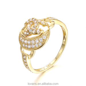 Jewelry Vendors Gold Ring Designs For Girls Light Gold Ring SRG485Y