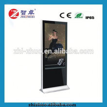 50 Inches Remote Control Advertising Display Kiosk Stand 4K Tough Panel DIgital Signage