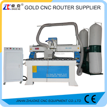ZKM-1325A Good Price Wood Furniture CNC Router Machine 1325 With Auto Oilling System 4th Axis Diameter 130mm PCI Ncstudio Contro