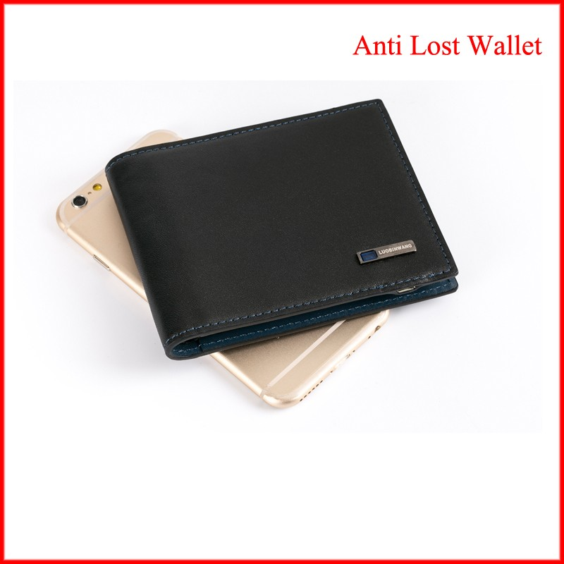hair purse leather wallet anti lost safe bluetooth wallet genuine quality