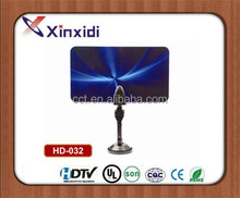 Flat indoor hdtv antenna/isdb-t/dvb-t2/astc tv antenna high gain active