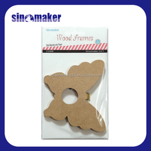 small wood picture frame butterfly shape photo frame hanging frame