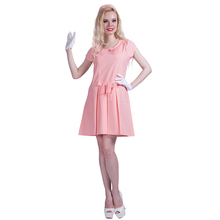 Hot Sale Fashion sexy women Ladies first lady pink retro 60s 70s cosplay costumes fancy dress