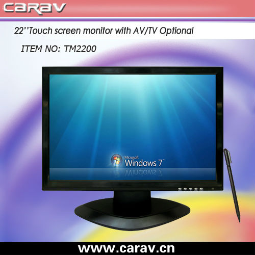 "Big size touch TV monitor 22""/ TV display/ large size touch screen monitor"