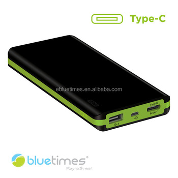 2016 New Bluetimes 10000mAh Li-polymer USB type-c powerbank for Nexus 5X Nexus 6P new Macbook