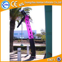 Outdoor advertising car wash inflatable air dancer dancing man, desktop air dancer with letters
