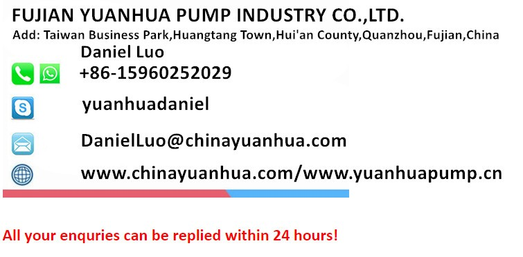 UL Listed Electric YuanHua Submersible Water Fountain Pond Pump