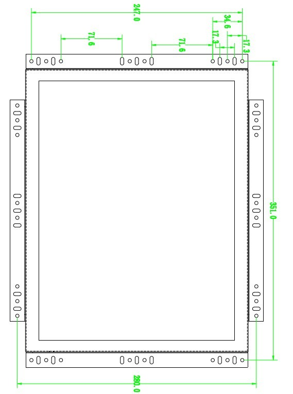15inch open frame fanless industrial touch screen panel pc
