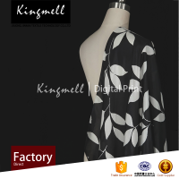 Factory direct custom Black&White digital Printed Silk Fabric