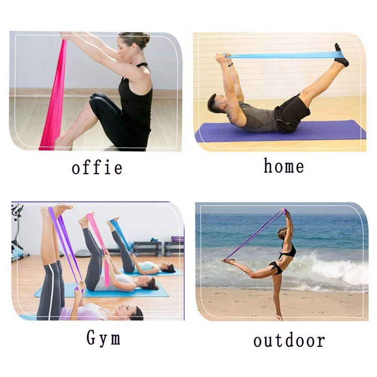 Yoga riem taille trainer Home Gym Fitness Weerstand Loop Oefening Bands Yoga pull met fitness band voor stretching