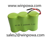 Ni-MH rechargeable battery pack, 3.6V.4500mah