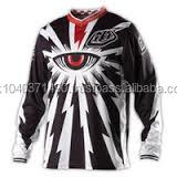 Custom 100% Polyester Mesh Fabric Sublimated Printed Motocross Racing red color eye Jersey