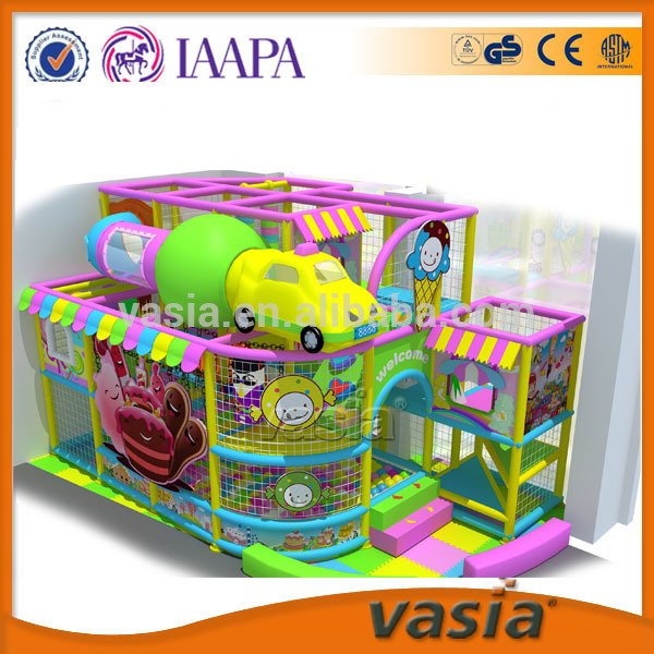 New products colorful children funny land plastic indoor soft playground