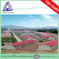 union house for workers dormitory steel housing warehouse structure