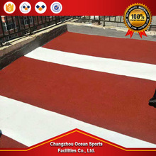 For Outdoor stadium track field Anti-slip Full PU plastic running track sports materials