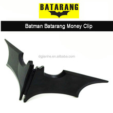 batman batarang black zinc alloy magnet money clip