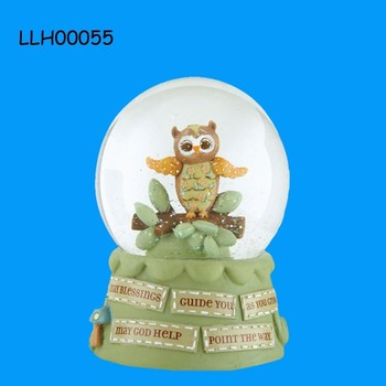 Blessings Owl Collection Snow Globe For Sale