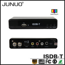 JUNUO shenzhen manufacture OEM quality FTA HD mpeg4 digital terrestrial tv decoder set top box isdb-t Chile