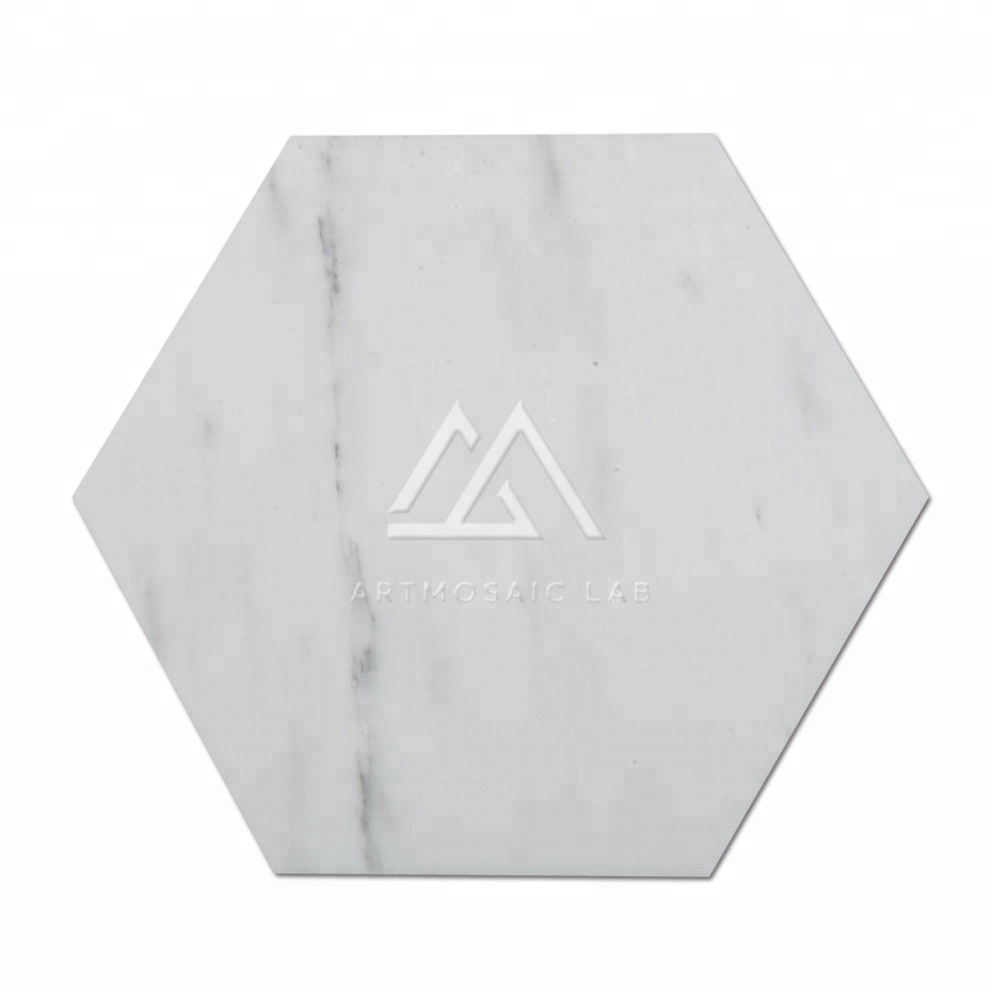 Artmosaic Lab 10&quot;<strong>x10</strong>&quot; White Polished Hexagon Low Price Marble Flooring Tile