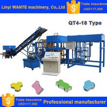 QT4-18 Wante beton ready mixed hollow block making machine for sale