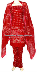 Bandhej Suits - Bandhej Cotton Salwar Suit