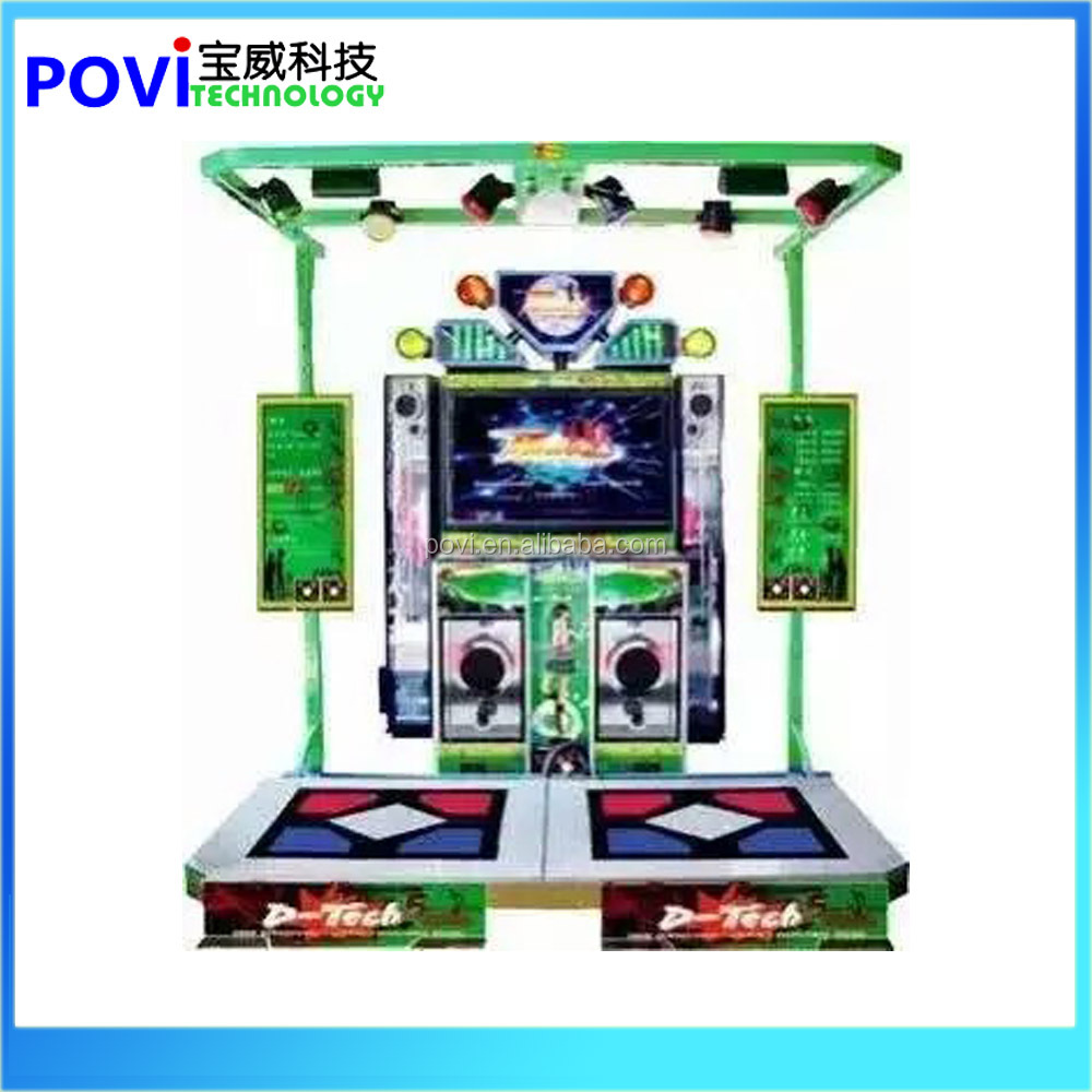 Coin Pusher Type 2 Player Classical Arcade Dance Game Machines