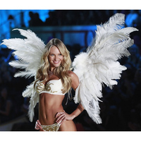 Carnival Artificial white Angel Feather Costume Wings