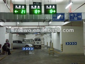 Car Ultrasonic Detector Parking Guidance Tracking System