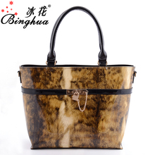 B-7293 China Hand Bags Supplier Wholesale Fashion Ladies Shining Patent Leather Handbags In Pakistan