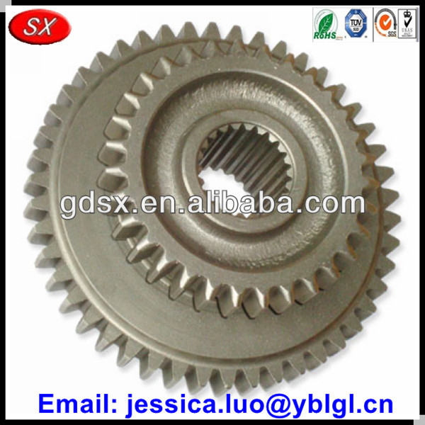 China OEM service customized speed gears,straight teeth double spur external and internal gear spline type