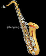 Tenor saxophone gold lacquer