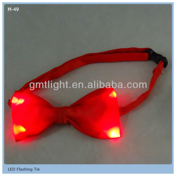 Cheap price led flashing bow tie made by GMTlight