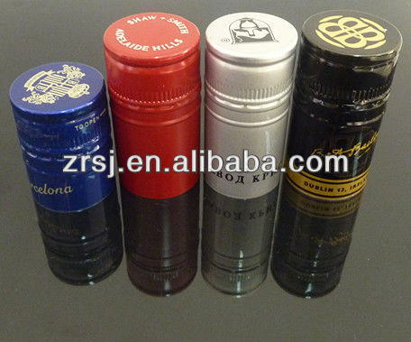2013 Newest design standard size colored 28mm aluminium caps for vodka glass bottle