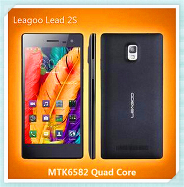 high quality Leagoo Lead 2S 5.0 inch IPS Screen 3G Android 4.4 Smart Phone MT6582 Quad Core 1.3Ghz Shenzhen Phone