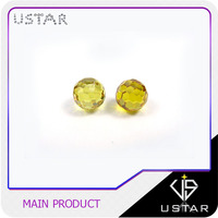 China Gemstone Manufacturer Good Price High Quality Yellow Color Cubic Zirconia