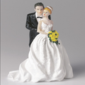 home wedding bride and groom figurine together