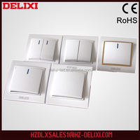 100% China supplier W-T80K2 European standard 1 gang 2 way push button foot wall electrical switch socket brand DELIXI