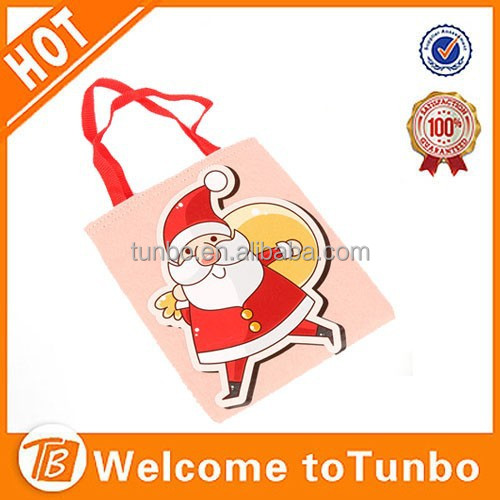 Personalized christmas ornaments santa bag candy bag gift bag importer christmas ornament merry christmas words decoration