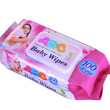 Sanitary No Alcohol Nonwoven Spunlace OEM Baby Wipes Hand And Mouth Cleaning Wet Baby Wipe